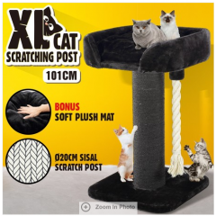 101CM Cat Scratching Post Pole Climbing Frame Scratcher with Rope