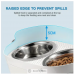 AFP Double Dog Bowls Elevated Food Water Feeder Dispenser Height Angle Adjustable Stainless Steel
