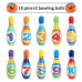 10 Multicolor Soft Foam Bowling Pins Early Learning, Educational,
