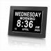 Extra Large Display Digital Calendar Clock USB MUSIC VEDIO PIC PLAYER Great gifts for Seniors Elderly